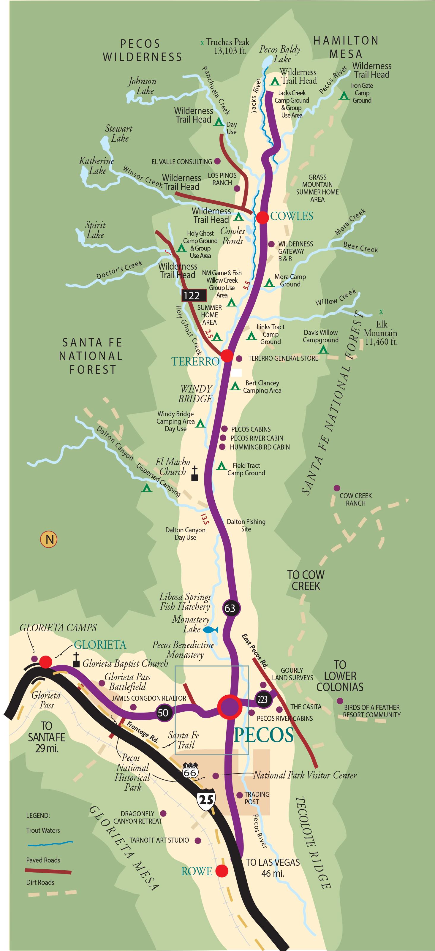 Pecos Maps on